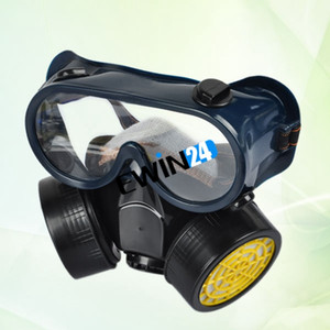 Respirateur Masque À Gaz Masque Filtre Lunettes Peinture Produit Chimique Sécurité Industrielle Anti-Poussière Bonne Qualité Vente Chaude 50 ensembles