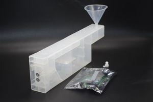 Pour imprimante HP designjet Z6100 Système d'encre BISS Bulk (cartouche d'encre de recharge de 8 pièces + 1 morceau de décodeur de puce + recharge de funel)