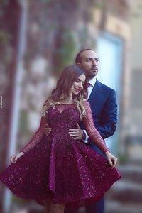 Abiti da sera con perline a manica lunga 2016 Pizzo floreale Ball Gown Prom Party Abiti da sera Abiti applique Abiti da cocktail Custom Made