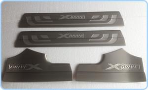 ¡Envío gratis! De alta calidad de acero inoxidable 4 unids interior de la puerta de los travesaños de la placa de apoyo, del umbral de la puerta, placa de protección, umbral de barra de protección para BMW X3
