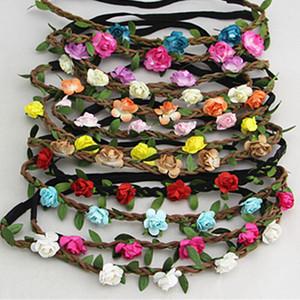 Vente chaude Mariée Bohème Fleur Bandeau Festival De Mariage Guirlande Florale Bande De Cheveux Chapeaux Accessoires de Cheveux pour Femmes