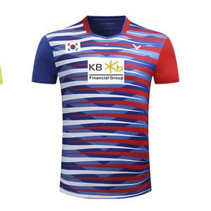 Новая мужская спортивная рубашка Victor Badminton с флагом Кореи и KB, майки корейского бадминтона, спортивная мужская футболка 253A