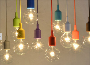 Pendant Lights Vintage Edison Creative DIY Droplight Rainbow Pendant Lamp Colourful Home Decoration Lighting Free Shipping