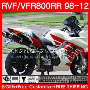 VFR800 Pour HONDA Interceptor blanc noir VFR800RR 98 99 00 01 02 03 04 12 90NO63 VFR 800 RR 1998 1999 2000 2001 2002 2003 2004 2012 Carénage