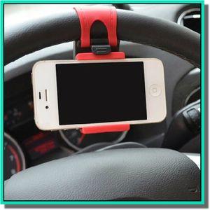 Evrensel Araba Streeling Direksiyon Cradle Tutucu AKıLLı Klipsi ile Akıllı cep samsung Cep Telefonu için araba Bisiklet Dağı GPS tutucu perakende
