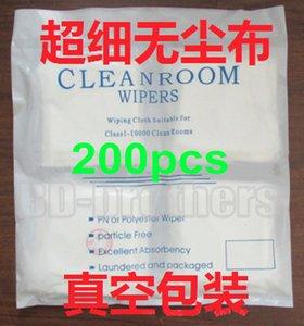 200pcs / bag 9 x 9cm 클린 룸 와이퍼 청소 천 닦아 종이 스텐실 닦는 종이