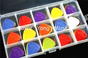 Muita 100pcs Alice Projectar Nylon Violão Elétrico Escolhas palhetas + 1 grande Escolhas suporte de plástico Caso Box