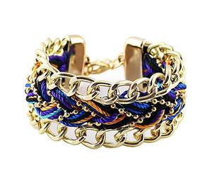 Wholesale Bohemian Pulseiras Black Brown Blue Color Multilayers Chain Boho Bracelet for Women Gift