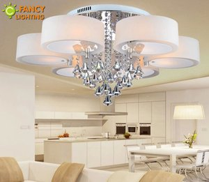 Atacado-K9 cristal Moderno lustre de cristal 110 V 220 V lustre de cristal para sala de estar / quarto / sala de jantar decoração Candelabros