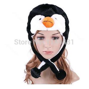 Gros-Filles 1 PC Cartoon Animal Pingouin En Peluche Chaud Chapeau Femmes Mignonne Mascotte En Peluche Chaud Chapeau Chapeau Nouveau
