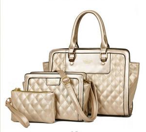 3 комплекта женщин сумки 2015 новое поступление мода классический Аллигатор кожа PU Сумки женские сумки и портмоне .