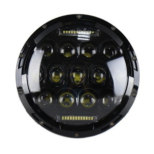 "75W 7"" Round LED Car Headlight Bulb Headlamp Light Lamp Replacement Refit Accessory for Jeep Wrangler Haley Davidson Moto"