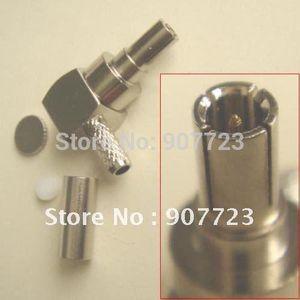 100pcs CRC9 male right angle crimp RG174 RG188 RG316 connector adapter
