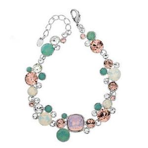 diamond flower lady's bracelet (17cm ) (woniu152))