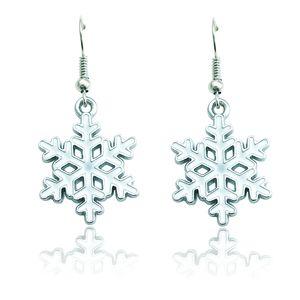 Yüksek Kalite Charms Küpe Dangle Yağ Damlası Kar Tanesi Moda Bildirimi Küpe Kadınlar Için Noel Dekorasyon Takı