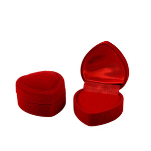 High Quality 4.8cm*4.8cm Jewery Organizer Red Velvet Ring Box Storage Cute Boxes Small Gift Box For Rings Earrings Pendent Necklace 2 Colors