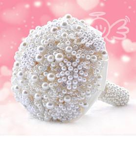Lüks İnci Yapay Buket El yapımı Kristal Fildişi Broş Buket 2018 Yeni Düğün Çiçekleri Gelin Buketleri