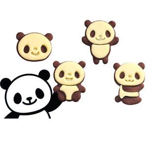 Dibujos animados Panda Fondant Biscuit Cookies Cutters Herramientas de peinado Sugarcraft Decorating Cooking Tool Set Molde Cookie Mold Cutter, dandys
