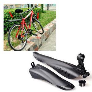 HZYEYO Cycling MTB Road Bike Bicycle Front Mudguard + Rear Fender Mud Guard Set Black colors