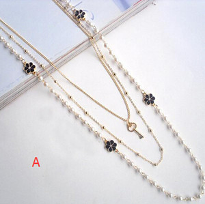 Hot sale New Necklaces Crystal Love Song Multilayer Pendants