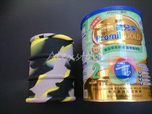 Gran contenedor de barril de aceite de silicona 500 ml tarros dab cera vaporizador aceite de goma tambor forma contenedor gran herramienta de hierba seca de silicona de calidad alimentaria