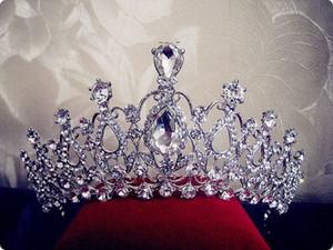 특대 크리스탈 신부 헤어 액세서리 웨딩 왕관과 크라운 판매 선발 대회 크라운 머리 보석 머리 장식