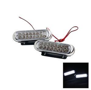 White 16 LED Daytime Running Lights Auxiliary lamp Fog Lamp DRL Work Lamps DC12V For Universal Car Styling Light