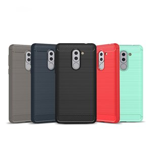 Противоударный броня мягкие углеродного волокна чехлы для Huawei Honor 6X Case силиконовые Coque Fudas Capa для Huawei Honor 6X обложка Case Shell