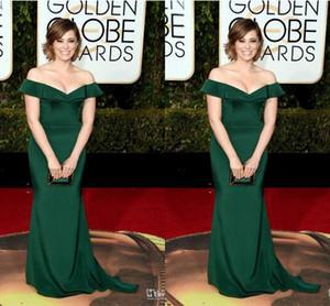 73 ° Premio Golden Globe Rachel Bloom Abiti da sera celebrità convenzionali Verde smeraldo Mermaid con spalle scoperte Abiti da sera sexy Plus