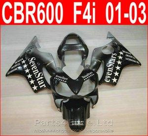 Venda quente Sevenstard preto bodykits Estilo para Honda CBR600 F4i carenagem kit 2001 2002 2003 CBR F4i cbr600f4i carenagens COIS