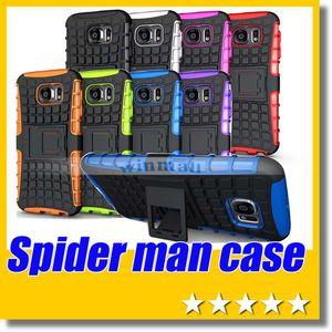 Para Samsung Galaxy S6 Spider Man Hybird Caso Kickstan Heavy Duty durável TPU PC capa para Samsung Galaxy S5 S4 S6 Borda Nota 3 4 iPhone 6 Plus