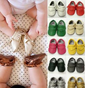 45 stil Für Wählen Baby Weiche PU Leder Quaste Mokassins Mädchen Bogen Moccs Baby Booties Kleinkind Einfarbig Quaste Schuhe Mokassin Frei Fedex