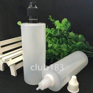سريع الشحن ldpe البلاستيك زجاجات القطارة 120 ملليلتر e سيج زجاجات السائل يفتحها الاطفال العبث تلميح e- السائل e- عصير زجاجات البلاستيك