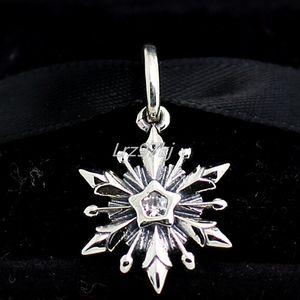 2015 nuovo 925 sterling silver congelato fiocco di neve ciondola il branello di fascino con clear cz adatto europeo pandora gioielli bracciali collane pendenti