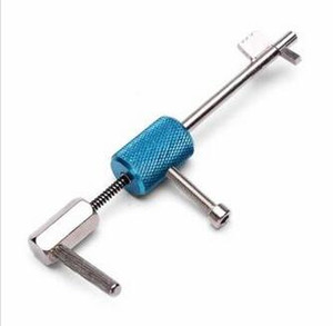 قفل المدني القسري السريع المفتوحة قفل اللقطات أداة الأقفال الفضة + الأزرق