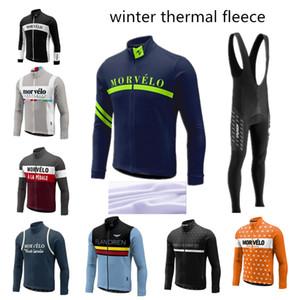in pile termico invernale Morvelo vestiti 2015 di ciclismo ciclismo maglie vendita ciclismo kit di inverno che cicla jersey bici Jersey montagna d'inverno