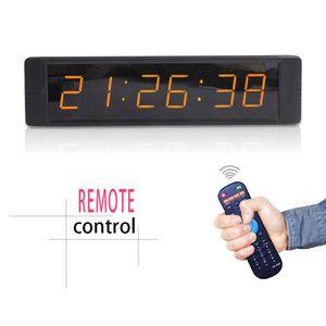 [Ganxin] Mini 1inch 6 cifre a 7 segmenti Display a LED Orologio Supporto conto alla rovescia / su digitale in ambra / tubo bianco per orologio da parete allarme interno