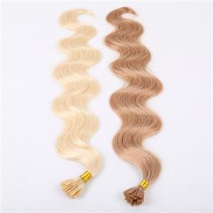 مجموعة متنوعة من الألوان الجميلة Chiese Bonded U TIP Body Wave Extensions 10-30 Inches 6A Virgin Human Hair Extension 100g