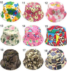 2018 Hot Flower Basin Hat Male Kids Boy Girl Fisherman Hat Strawberry Apple Cherry Children Hats