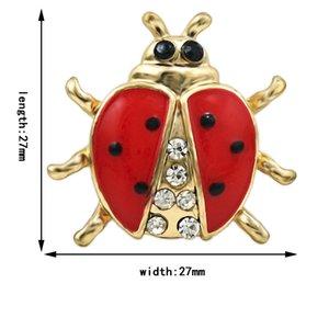 Marka uğur böceği hayvan broşlar kaplama altın takım elbise rhinestone emaye pins takı dekorasyon erkekler için yeni brooches xtwkx