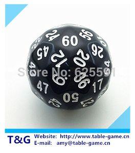 TG dice preto de alta qualidade 60 lados D60 Big Dice Toy Dungeon e dragões rpg dd dados