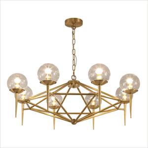 Kupfer Modo Kronleuchter Lichter Moderne Pendelleuchte in Kupfer Finish Klarglas Beleuchtung 6 Licht 8 Licht 110V 220V Home Lighting Decor