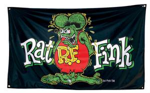 Горячие продажи продуктов RAT FINK флаги индивидуальные флаги с четырьмя металлическими втулками 100D полиэстер на заказ баннеры украшения