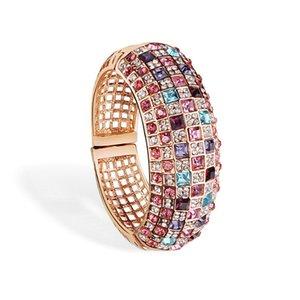 Luxe Vintage Mode en ligne Cristal Mesdames Bijoux Bracelets style strass Mesdames bracelets colorés Bangles 2870 Xhjeu