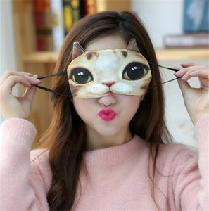 Precioso 3D Animal Miau Estrella Personas Máscara de Ojos Suave Algodón Sleep Rest Viajes Eye Mask Sombra Mujeres Niñas Lindo Blindfold Regalo Creativo DCBH21