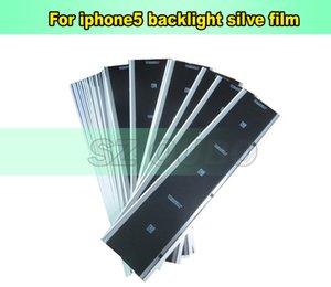 DHL 실버 백라이트 스티커 필름 iphone 5 5S 5 C LCD 화면 디스플레이 백라이트 접착 테이프에 맞게 iphone5 5s 5c QR 코드