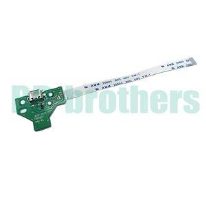 JDS-001 / JDS-011, 12 broches / 14 broches PS4 USB Port de Charge Connecteur Socket Circuit Circuit Avec Câble Plat Flexible PS4 GamePad 100pcs / lot