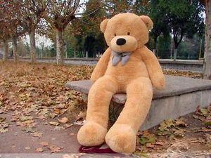 Toptan Büyük Kahverengi peluche orso Yumuşak hayvan bebek Noel doğum günü hediyeleri oyuncaklar 200 cm bu