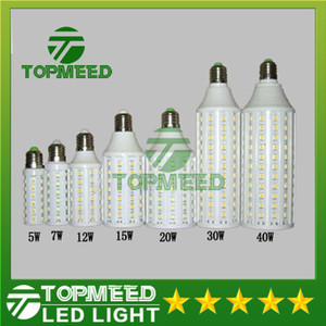 DHL 주도 옥수수 빛 E27 E14 B22 SMD5050 85-265V 5W, 7W 12W 15W 20W 30W 40W LED 전구 360도 조명 램프 (20)