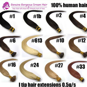 """16 """" -24 """" #613 я наконечник наращивание волос человека платина блондинка спутывания предварительно связали кератин волос 0.5 г s 100s пакет 7A класс"""